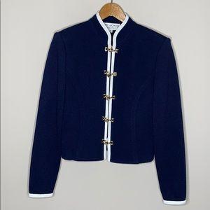 St. John By Marie Gray Navy Blue Jacket Size 4